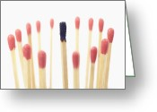 Standing Out From The Crowd Greeting Cards - Matches Greeting Card by Photo Division