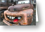 Ford Truck Greeting Cards - Mater from Cars 2 Ford Truck Greeting Card by Dustin K Ryan