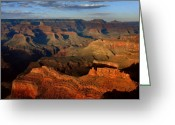 Sunset Greeting Cards - Mather Point - Grand Canyon Greeting Card by Stephen  Vecchiotti