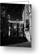 Mathew Greeting Cards - Mathew Street In Liverpool City Centre Birthplace Of The Beatles Merseyside England Uk Greeting Card by Joe Fox