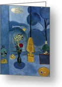 1913 Greeting Cards - Matisse: Blue Window, 1913 Greeting Card by Granger
