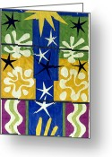 1952 Greeting Cards - Matisse: Christmas, 1952 Greeting Card by Granger