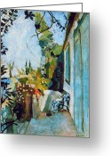 Modern Art Greeting Cards - Matisse Terrace 1904 Greeting Card by Granger