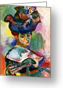 Turn Of The Century Greeting Cards - Matisse: Woman W/hat, 1905 Greeting Card by Granger