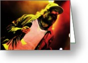 Celebrities Photo Greeting Cards - Matisyahu live in concert 2 Greeting Card by The  Vault