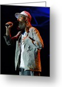 Live Music Greeting Cards - Matisyahu live in concert 4  Greeting Card by The  Vault