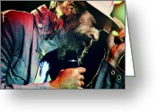 Celebrities Photo Greeting Cards - Matisyahu live in concert 7 Greeting Card by The  Vault
