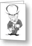 Human Nature Greeting Cards - Matt Ridley, Caricature Greeting Card by Gary Brown
