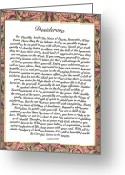 Desiderata Greeting Cards - Matted DESIDERATA Greeting Card by Harley MacDonald