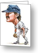 Sports Prints Greeting Cards - Mattingly Greeting Card by Tom Hedderich