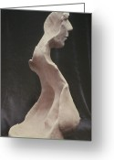 Male Sculpture Greeting Cards - Maturity Greeting Card by Sarah Biondo