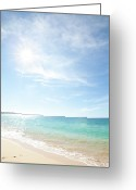 Horizon Over Water Greeting Cards - Maui Beach Greeting Card by Monica and Michael Sweet