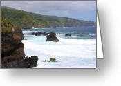 Landscape Photograpy Greeting Cards - Maui Coastline Greeting Card by Bruce Bley