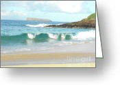 Beach Photo Greeting Cards - Maui Hawaii Beach Greeting Card by Rebecca Margraf