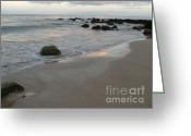 Whirls Greeting Cards - Maui Sunrise Greeting Card by Deborah Smolinske