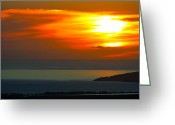 ; Maui Greeting Cards - Maui Sunset Greeting Card by Karon Melillo DeVega