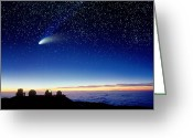 Observatories Greeting Cards - Mauna Kea Telescopes Greeting Card by D Nunuk and Photo Researchers