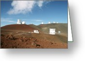Telescope Domes Greeting Cards - Mauna Kea Telescopes Greeting Card by Magrath Photography
