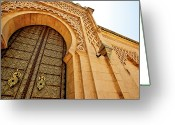 V Greeting Cards - Mausoleum Of Mohammed V Greeting Card by Kelly Cheng Travel Photography