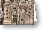 Burials Greeting Cards - Mausoleum View Greeting Card by Deborah Smolinske