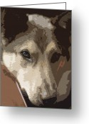 German Shepard Digital Art Greeting Cards - Max Greeting Card by Dale Halbur