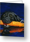 Debbie Brown Greeting Cards - Max Greeting Card by Debbie Brown