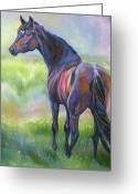 Equines Painting Greeting Cards - Max Greeting Card by Diane Williams