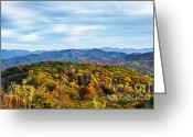 Grand Memories Greeting Cards - Max Patch Bald Greeting Card by John Haldane