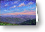 Appalachian Trail Greeting Cards - Max Patch North Carolina Greeting Card by Jeff Pittman