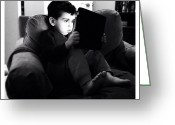 Blackandwhite Greeting Cards - Max: Portrait Of A Child (1) Greeting Card by Natasha Marco