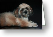 Dog Prints Pastels Greeting Cards - Maxi Greeting Card by Cynthia House
