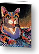 Stylized Art Greeting Cards - Maximillian Greeting Card by Bob Coonts