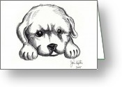 Puppies Greeting Cards - Maya 2 Greeting Card by John Keaton