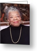 Spiritual Greeting Cards - Maya Angelou Greeting Card by Robert Ponzoni