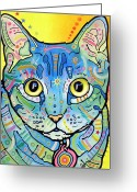 Dean Russo Art Painting Greeting Cards - Maya Vintage Greeting Card by Dean Russo
