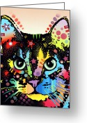 Kitty Greeting Cards - Maya Warrior Greeting Card by Dean Russo