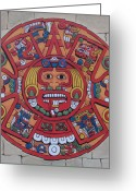 Mayan Art Greeting Cards - Mayan Calendar  Greeting Card by Bob Gregory