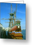 National Drawings Greeting Cards - Mayflower - Historic Sailing Ship Greeting Card by Peter Art Prints Posters Gallery