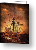Mayflower Greeting Cards - Mayflower II Greeting Card by Lourry Legarde