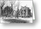 Cities Greeting Cards - Maynard House Greeting Card by Granger