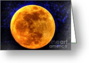 Tonight Greeting Cards - Mays Moon  Greeting Card by Paul Baker