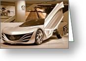 Auto Show Greeting Cards - Mazda 0945 Greeting Card by Michael Peychich