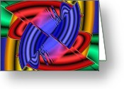 Fractal Art Pastels Greeting Cards - Maze Greeting Card by Darrell Foltz
