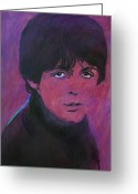Paul Mccartney Greeting Cards - McCartney Greeting Card by David Lloyd Glover