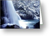 Trout Stream Greeting Cards - McCoy Falls in January Greeting Card by Thomas R Fletcher