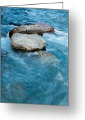 Lake Mcdonald Greeting Cards - McDonald Creek Glacier National Park Greeting Card by Bruce Gourley