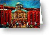 Montreal Cityscenes Greeting Cards - Mcgill Gates Montreal Greeting Card by Carole Spandau