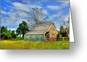 Shed Digital Art Greeting Cards - McLean House Barn 1 Greeting Card by Dan Stone