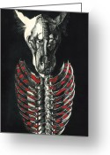 Anatomical Mixed Media Greeting Cards - McRib Greeting Card by Joe Dragt