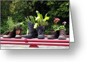 Bradford Greeting Cards - Me Garden Boots Greeting Card by Kurt Van Wagner